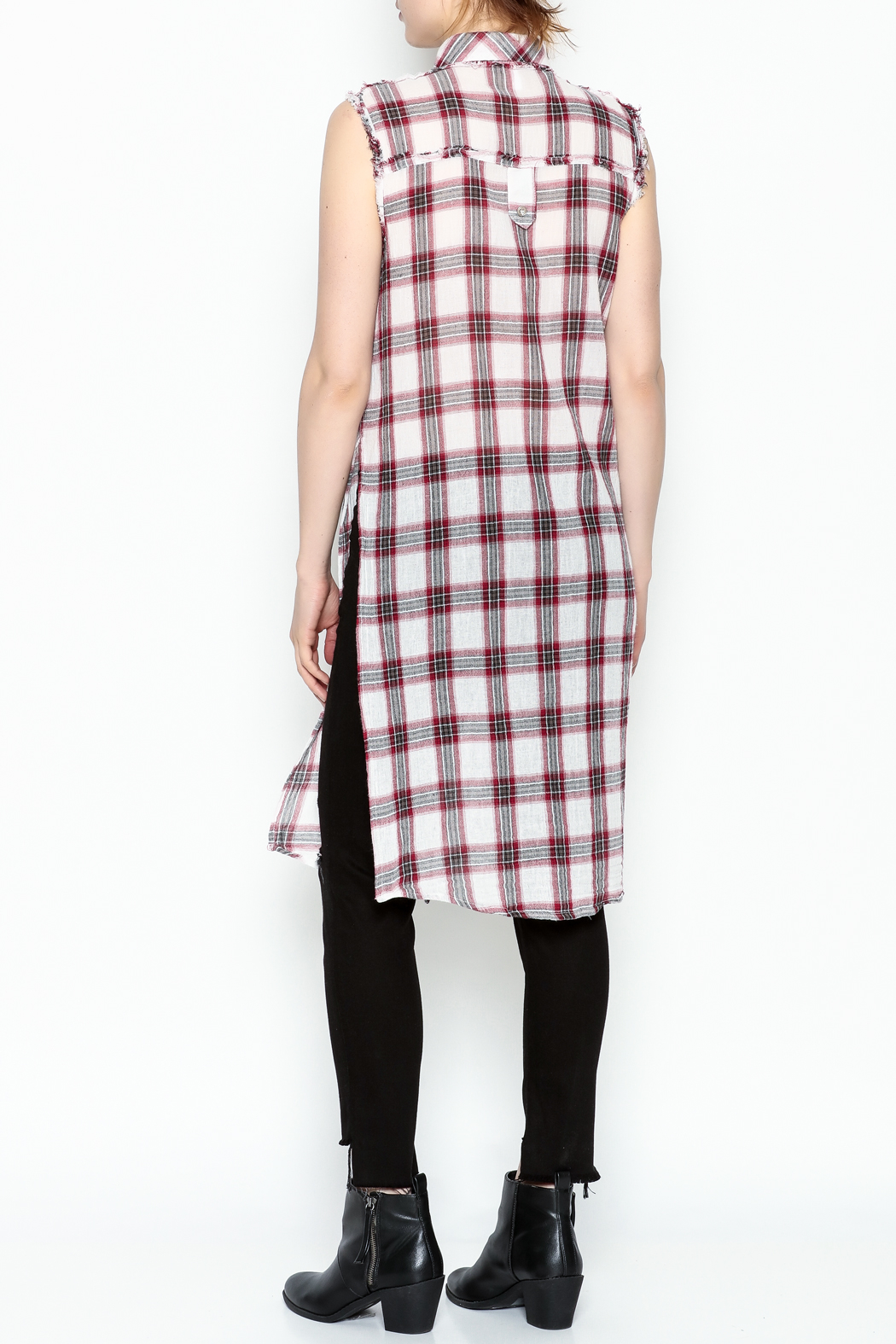 Runway & Rose Tank Flannel Top - Back Cropped Image