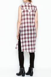 Runway & Rose Tank Flannel Top - Back cropped