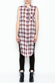 Runway & Rose Tank Flannel Top - Front full body