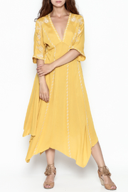 Runway & Rose Yellow Embroidered Dress - Product Mini Image