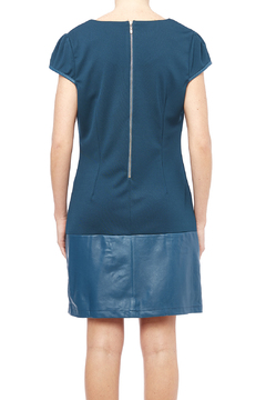 Runway Leather Accent Dress - Alternate List Image