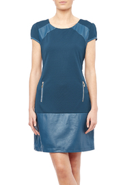 Runway Leather Accent Dress - Product Mini Image