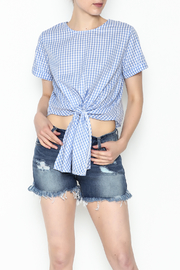 Runway Paris Checkered Crop Top - Product Mini Image