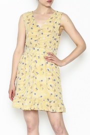 Runway Paris Striped Floral Dress - Front cropped