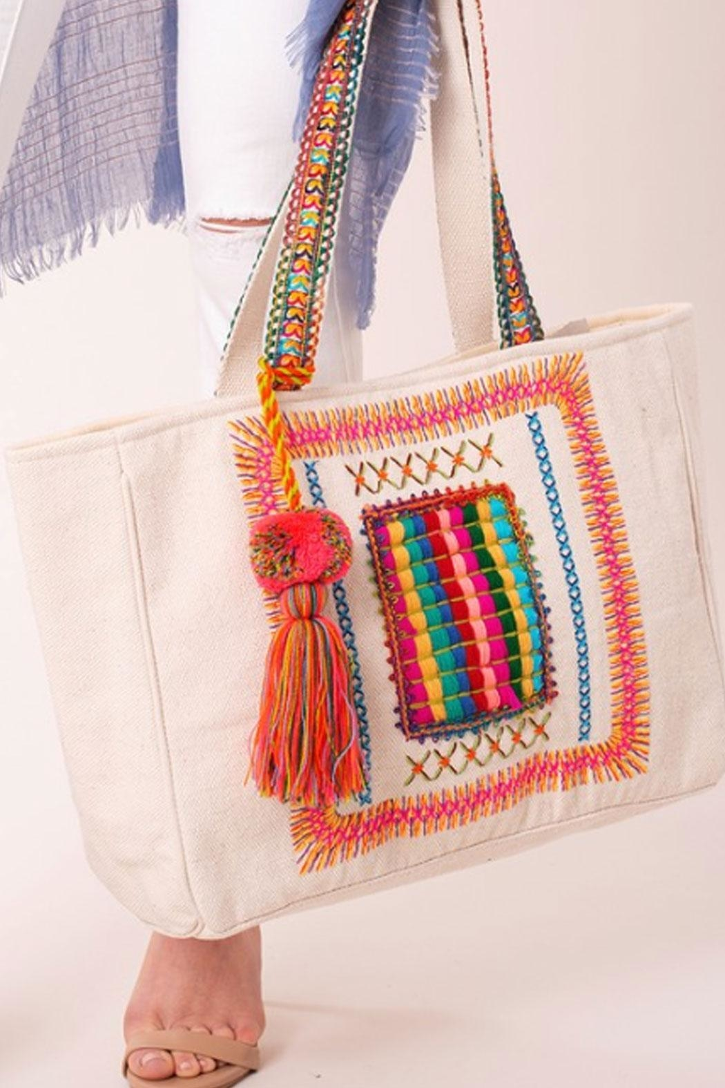 Runway & Rose Aztec Tote Bag - Front Cropped Image