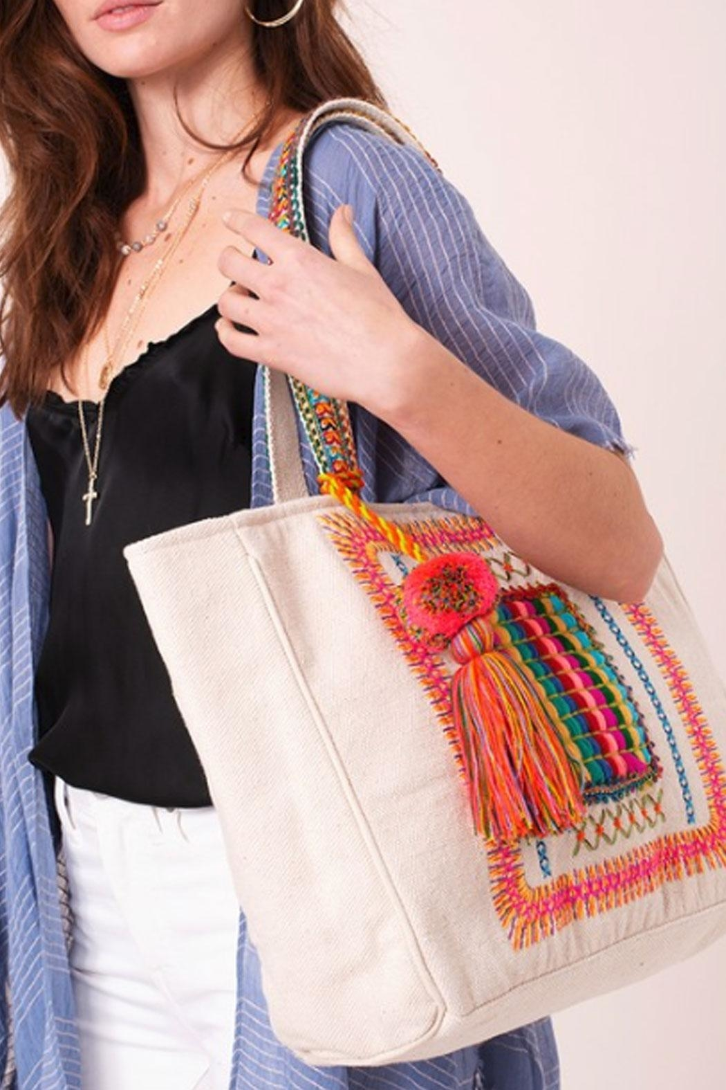 Runway & Rose Aztec Tote Bag - Side Cropped Image