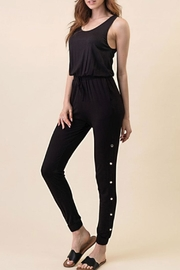 Runway & Rose Button Leg Jumpsuit - Product Mini Image