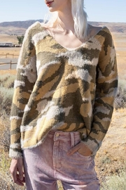 Runway & Rose Camo Slouchy Sweater - Product Mini Image