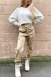 Runway & Rose Chain Cargo Pants - Front cropped