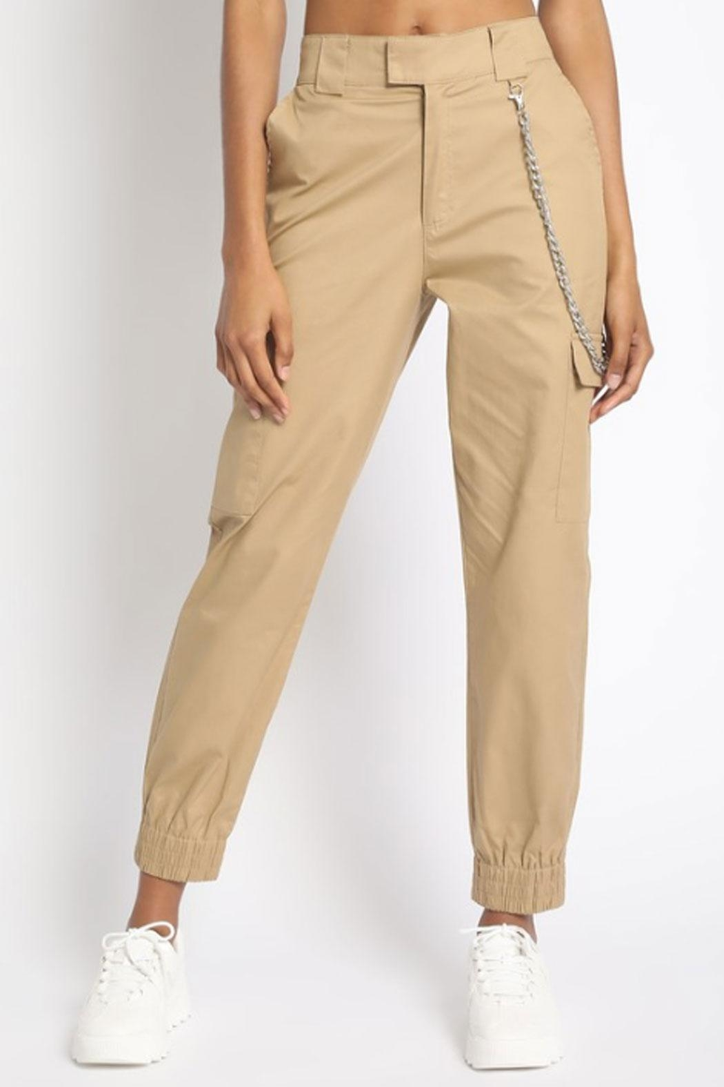 Runway & Rose Chain Cargo Pants - Side Cropped Image