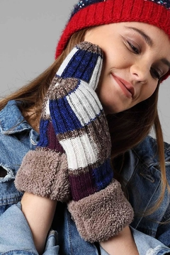 Runway & Rose Color-Block Mittens - Alternate List Image
