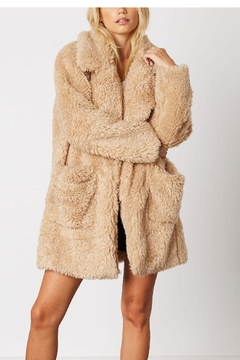 Cotton Candy Lapel Teddy Coat - Product List Image