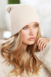 Runway & Rose Ribbed Knit Beanie - Front cropped