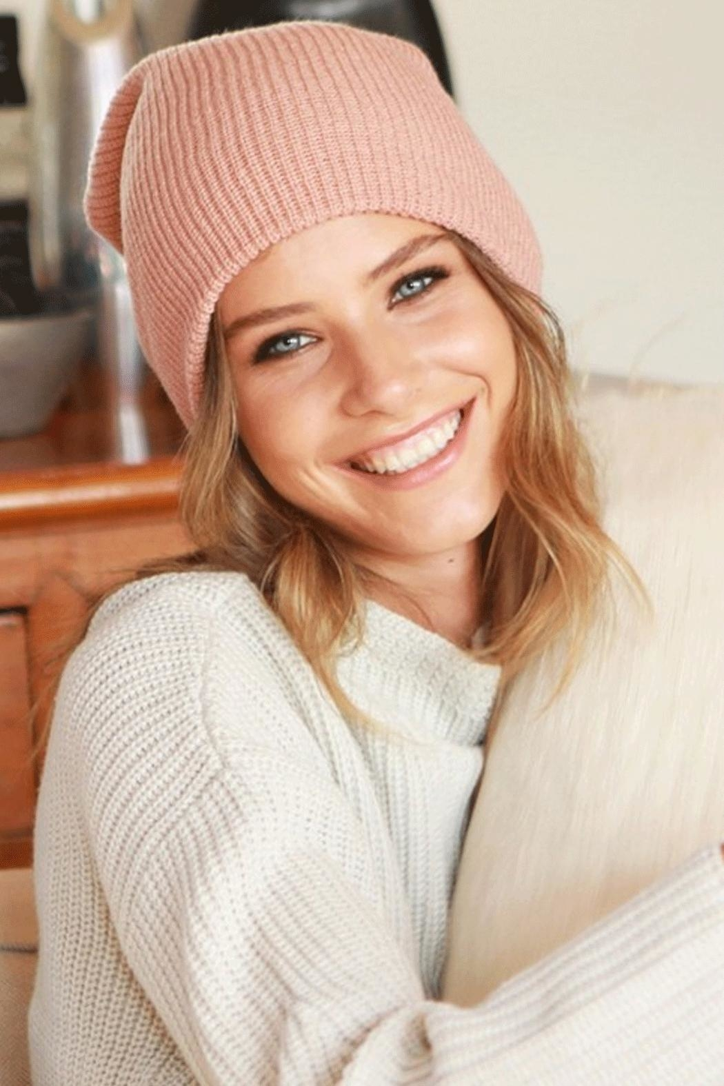 Runway & Rose Ribbed Knit Beanie - Front Cropped Image