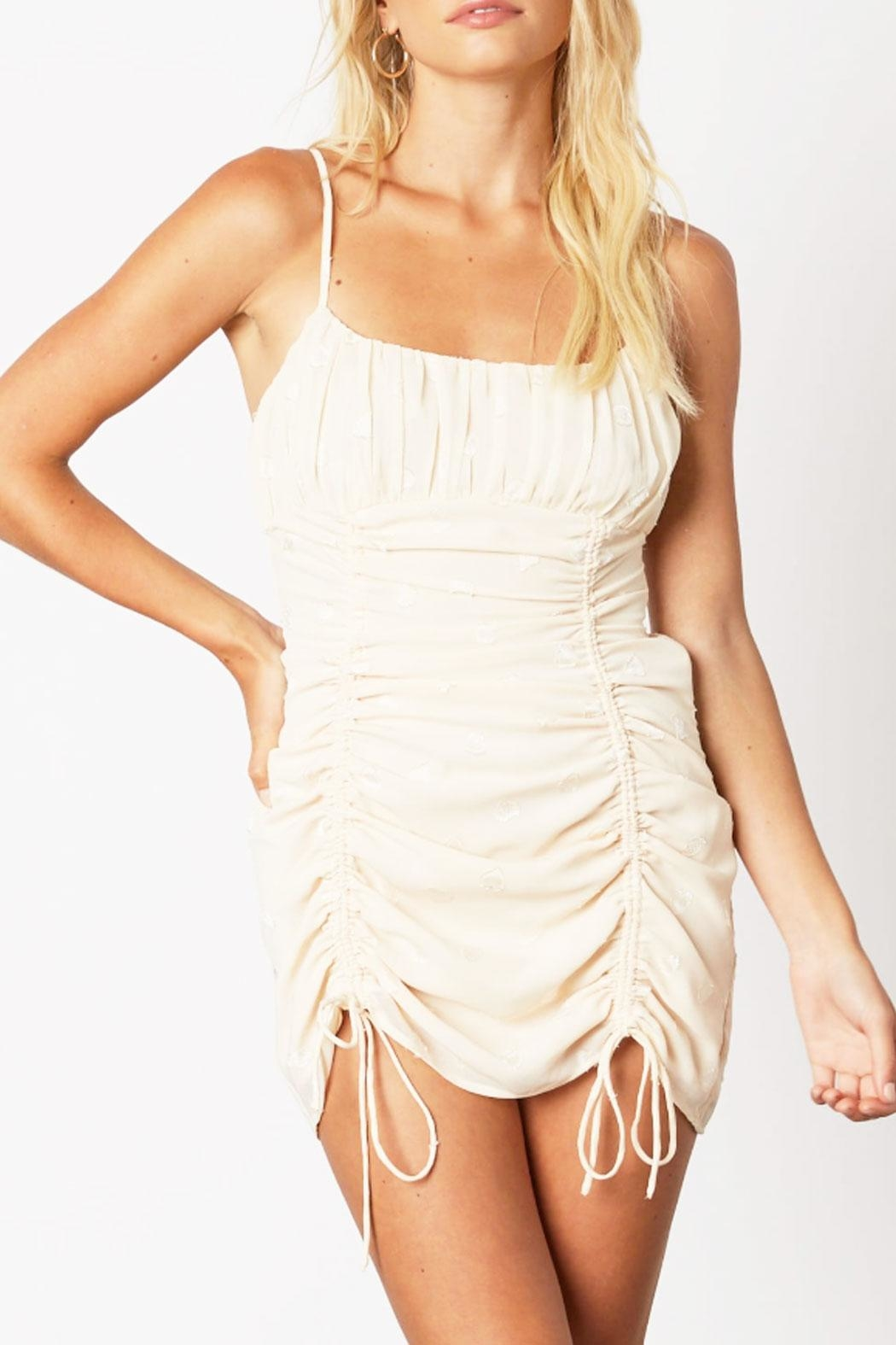 Runway & Rose Ruched Heart Dress - Front Cropped Image