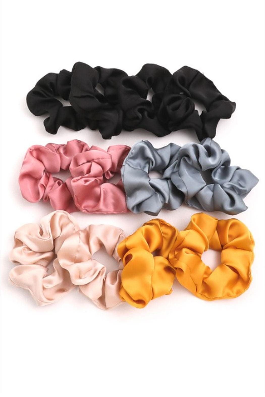 Runway & Rose Silky Scrunchies - Front Cropped Image