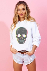 Runway & Rose Skull Pullover - Front cropped