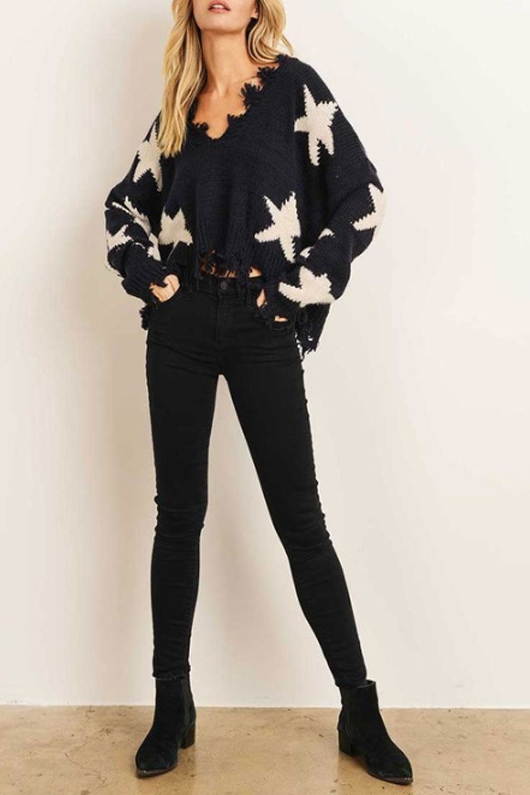 Runway & Rose Star Sweater - Front Full Image