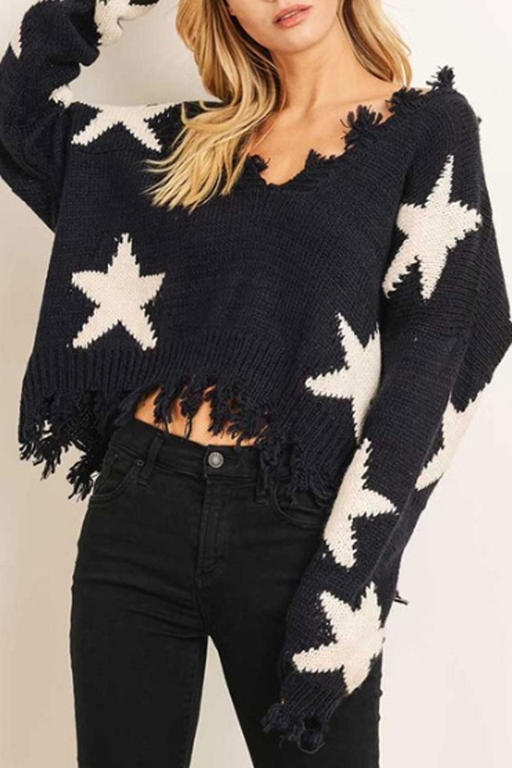 Runway & Rose Star Sweater - Front Cropped Image