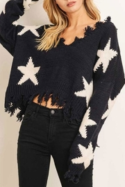 Runway & Rose Star Sweater - Front cropped