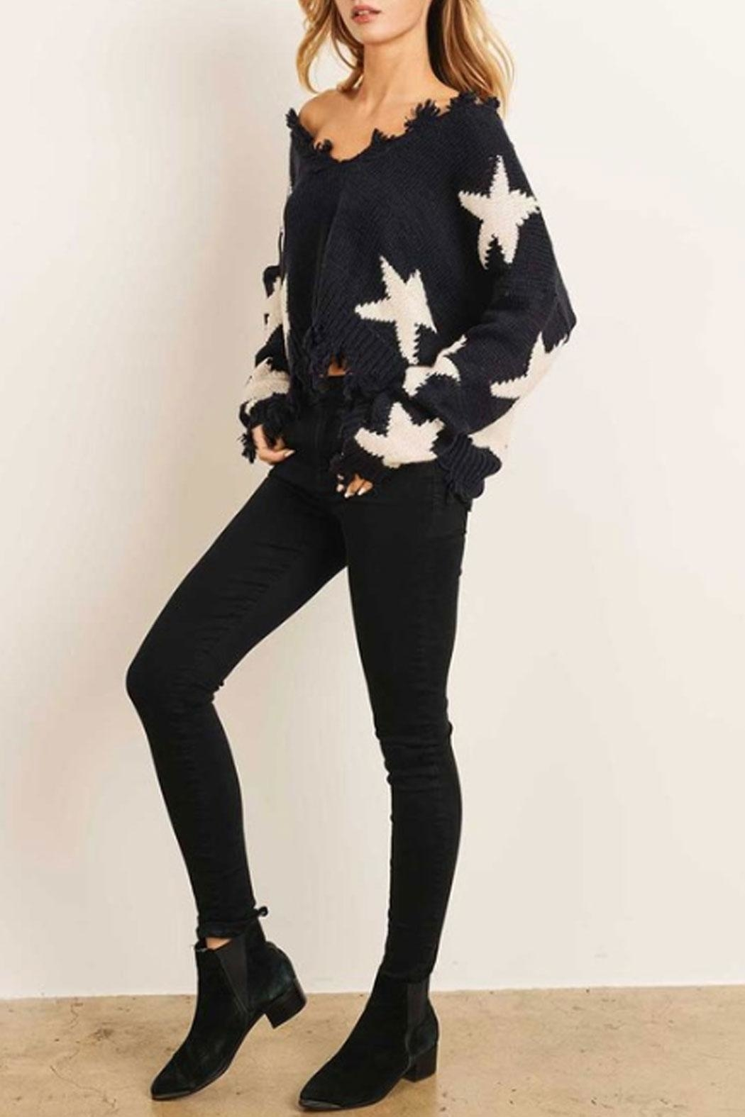 Runway & Rose Star Sweater - Side Cropped Image