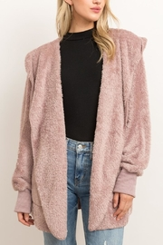 Runway & Rose Teddy Open Cardigan - Front cropped