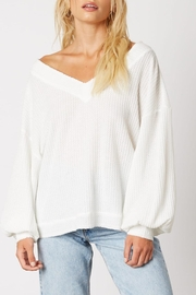 Runway & Rose Thermal Off-The-Shoulder Top - Product Mini Image