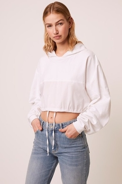 French Connection Rusha Cropped Hoodie - Product List Image