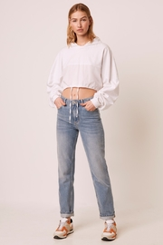 French Connection Rusha Cropped Hoodie - Front full body