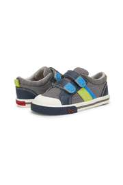 See Kai Run  Russell Sneaker - Gray/Blue - Product Mini Image
