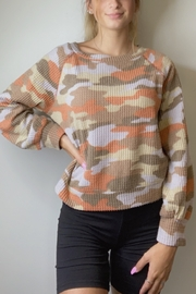 Ginger G Rust Camo Top - Front cropped