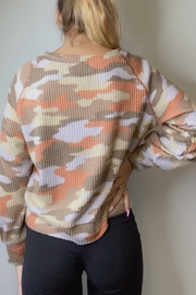 Ginger G Rust Camo Top - Front full body