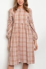 Lyn-Maree's  Rust Checkered Dress - Product Mini Image