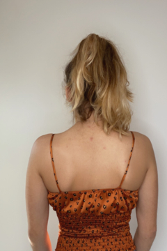 A's Unique Boutique Rust Cheetah Top - Alternate List Image