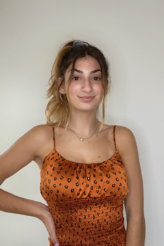A's Unique Boutique Rust Cheetah Top - Product List Image