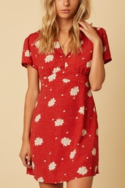 Cotton Candy LA Rust Floral Dress - Product Mini Image