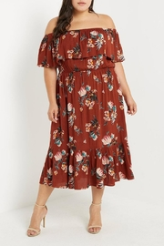 Soprano Rust Floral Dress - Product Mini Image