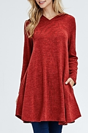 Voll Rust Hooded Tunic - Product Mini Image