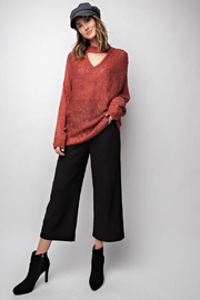 easel Rust Keyhole Sweater - Product Mini Image