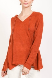 Love Stitch Rust Knit Hoodie - Product Mini Image