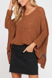 Wishlist Rust Knit Sweater - Product Mini Image