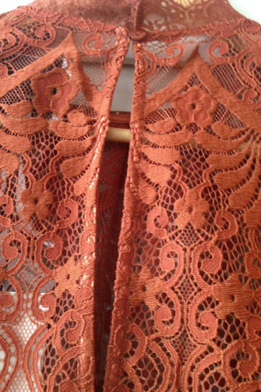 LOLLYS LAUNDRY Rust, Lace Top - Side Cropped Image