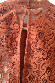 LOLLYS LAUNDRY Rust, Lace Top - Side cropped