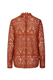 LOLLYS LAUNDRY Rust, Lace Top - Front full body