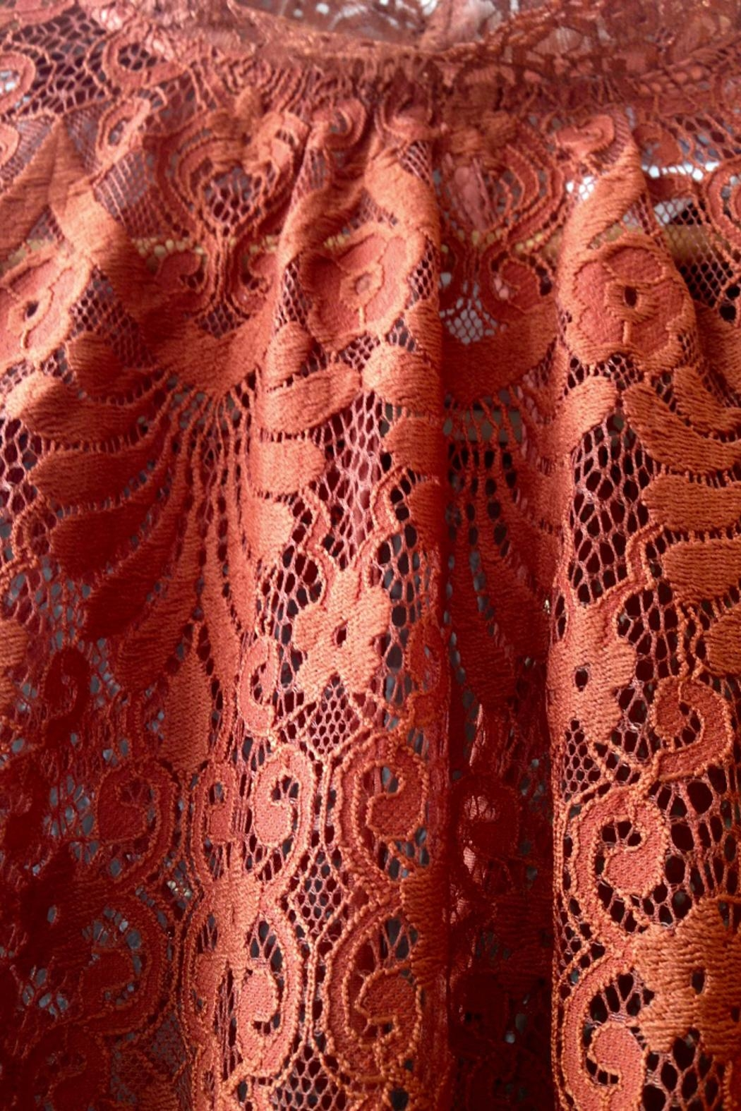 LOLLYS LAUNDRY Rust, Lace Top - Back Cropped Image