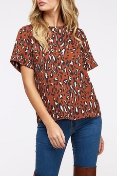 Peach Love California Rust Leopard-Print Top - Product List Image