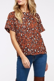 Peach Love California Rust Leopard-Print Top - Product Mini Image