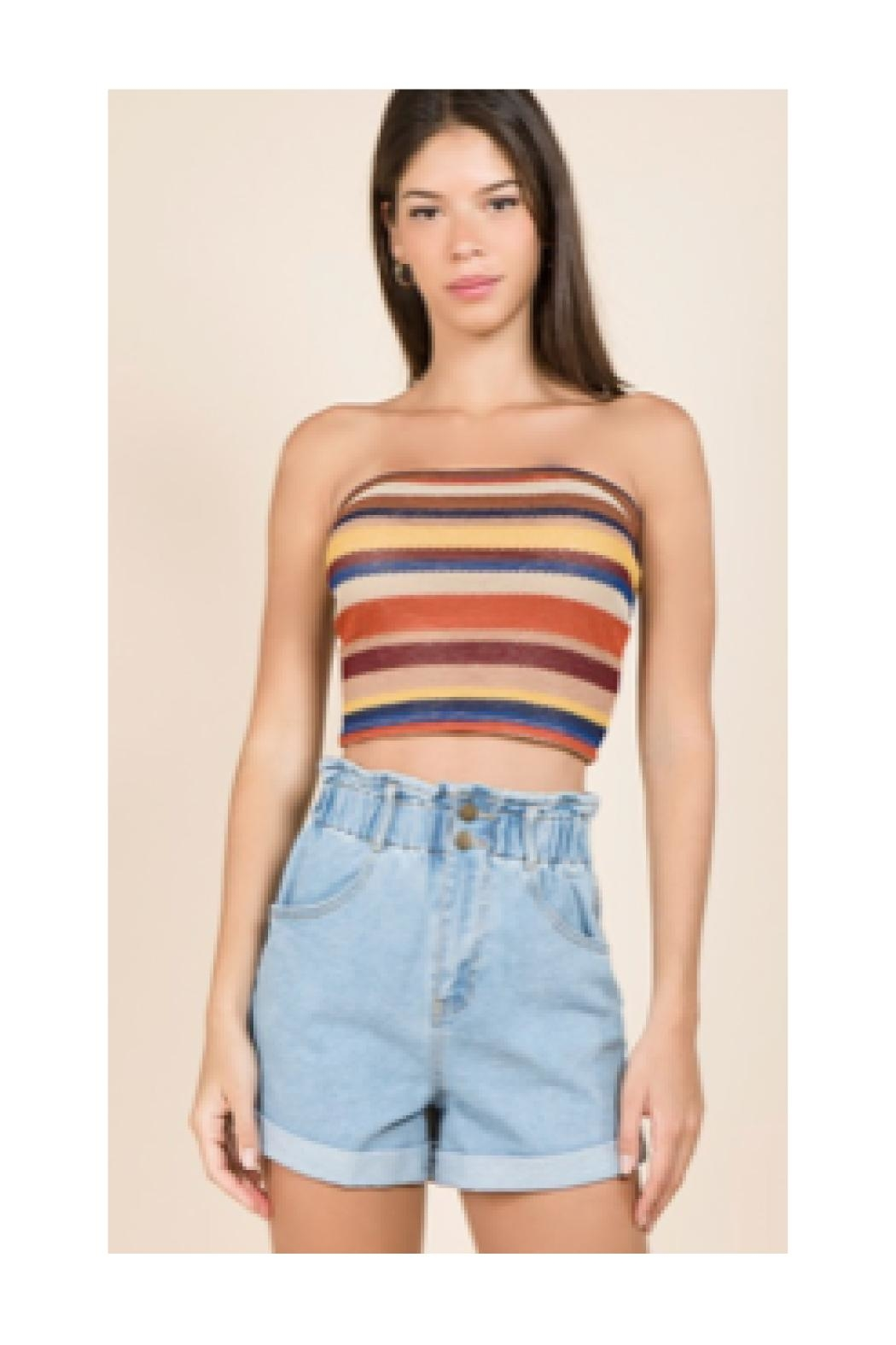Polly & Esther Rust Multicolor Tube-Top - Main Image