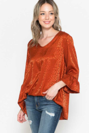 Now & Forever  Rust Now Top - Front cropped