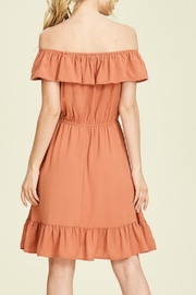 Staccato Rust Off-The-Shoulder Dress - Side cropped